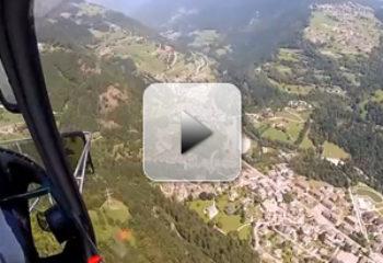Elicottero sopra Ardesio - Tour