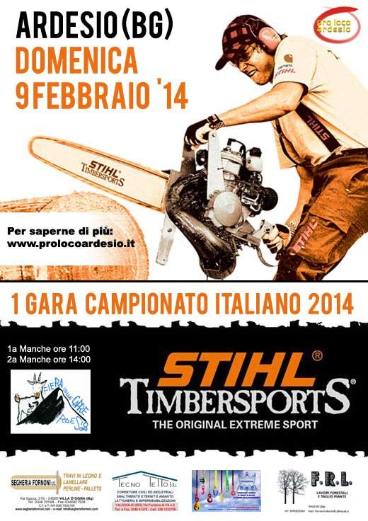 Ardesio: Campionato Italiano Stihl Timbersport