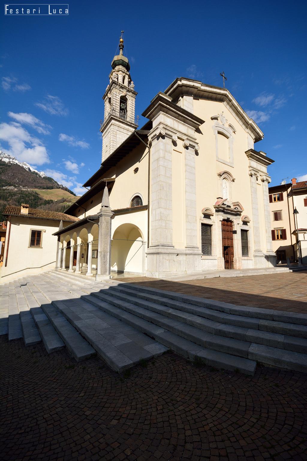viviardesio ardesio progetto percorso storico artistico veduta esterna del santuario luca festari