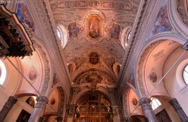 Interno del Santuario - Dettaglio del soffitto